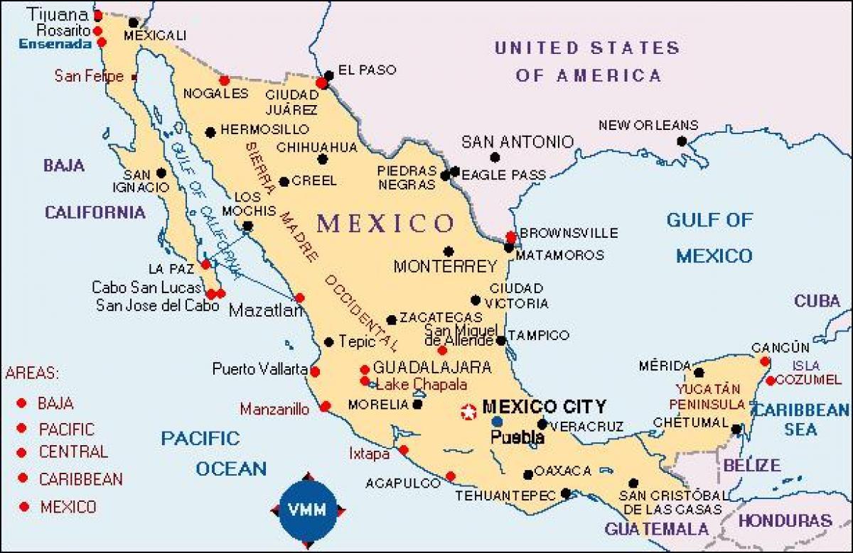Meksiko Kartta